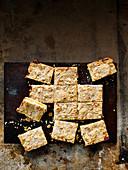 Marmalade and almond shortbread bars