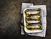 Cornish mackerel baked in cider