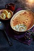 Lemon surprise pudding