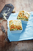 Spinach and parmesan souffle
