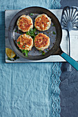 Cod and hot smoked salmon fishcakes