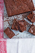 Dark chocolate truffle brownies