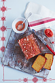 Pink grapefruit drizzle cake