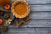 Pumpkin Pie in der Pfanne gebacken