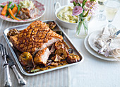 Easter roast pork with apples