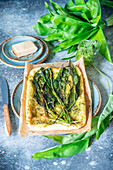 Wild garlic flatbread