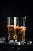 Iced coffee with almond milk