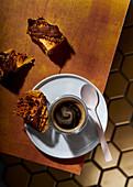 Dark-chocolate dipped honeycomb