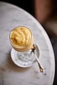 Zabaione cream in a glass