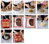 Kleine Brot-Schokoladenaufläufe mit Whiskycreme und Paprika-Schokolade zubereiten