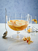 White sangria with physalis