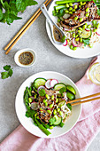 Rice Noodles With Tuna