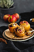 Baked Apples With Millet