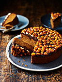 Spiced Macadamia and treacle cake
