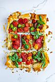 Vegeterian tomato tart
