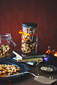 Cashew nuts with a dukkah spice mixture for Christmas