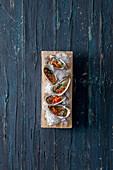 Oysters with Brazilian vinaigrette