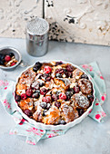 Croissant bake with berries