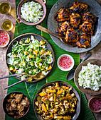 Philippinisches Boddle Fight Menü