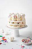 Funfetti Macaron Cake