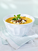 Karottensuppe mit Feta