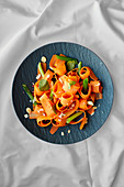 Carrot salad with spring onions