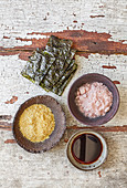 Vegan secrets - Nori, Kala Namak, nutritional yeast, liquid smoke