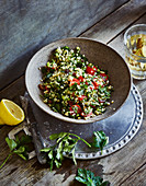 Ayurvedic tabbouleh with raisins