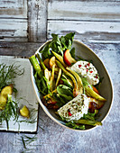 Ayurvedic fennel and apple salad with goat's cream cheese