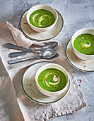 Green broccoli soup