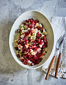 Ayurvedic beetroot salad with honey