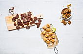 Sugar-free spelt biscuits, molasses shortbread and coconut macaroons