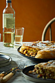 Marocean Bastilla with chicken and almonds