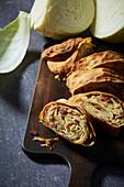Cabbage pie (German Krautstrudel)