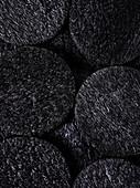 Black rice crackers