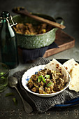 Lamb and fresh herb curry