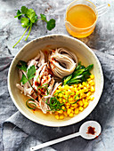 Chicken Noodle Soup with corn