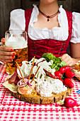 Bavarian snack board
