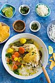 Mexican caldo de pollo