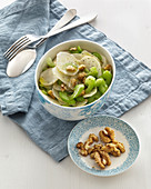 Jerusalem artichoke and celery salad with walnuts