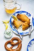 Backfisch mit Remouladensauce