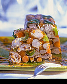 Poultry terrine with vegetables