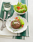 Lamb and pork burgers with fennel