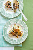 Stuffed artichokes with salsiccia, raisins and pine nuts
