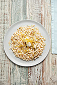 Risotto with artichokes, ricotta and lemon zest