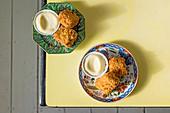 Asiatisch-portugiesische Kabeljau-Fritter mit Aioli