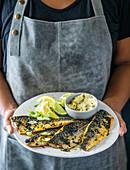 Gebratene Makrelen mit Noributter