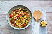 Summery couscous salad with grilled vegetables