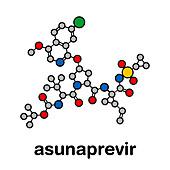 Asunaprevir hepatitis C virus drug, molecular model