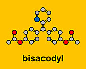 Bisacodyl laxative drug, molecular model